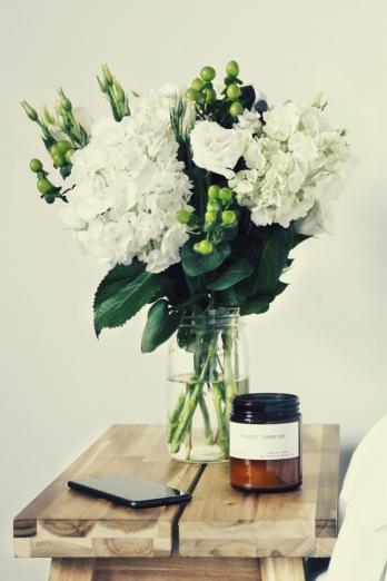 bouquet table de nuit