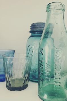 Bouteilles verre vintage