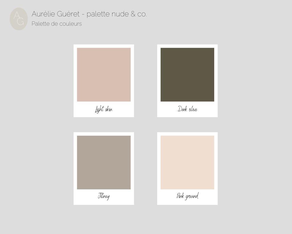 Création d'une palette de couleurs. Tons nude. Décoration d'intérieur